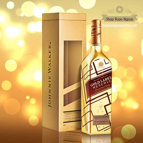 Rượu Johnnie Walker Gold Label Reserve Limited Edition - Chai vàng IBC - shopruoungoaixachtay.com